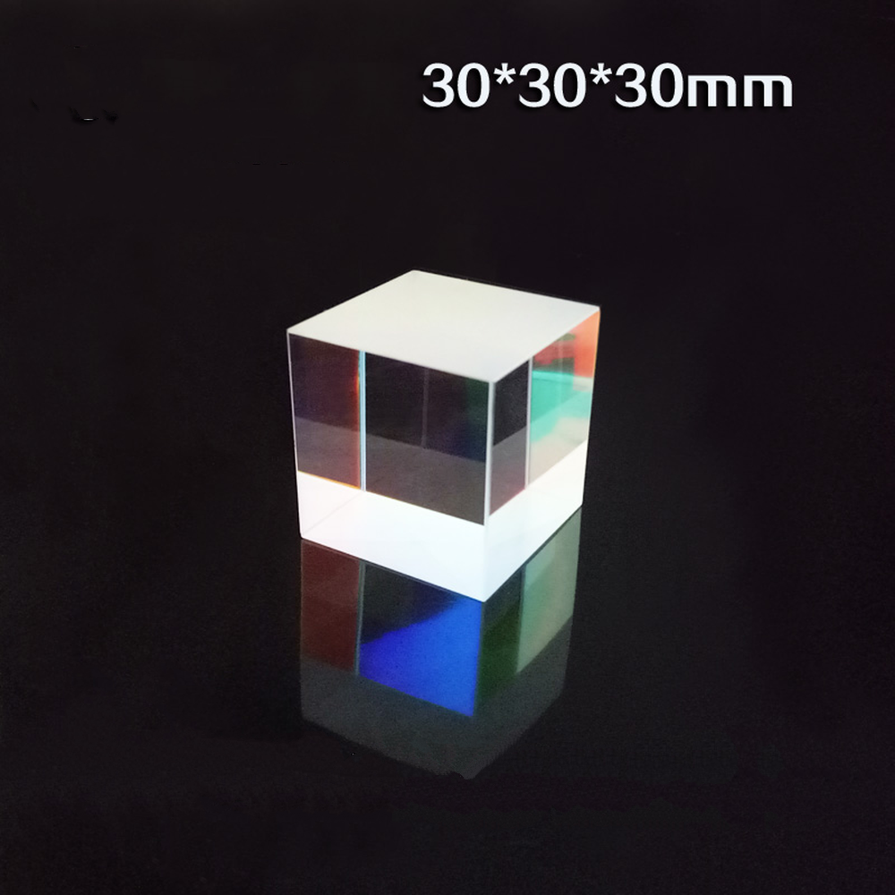 30*30*30mm Color Prism K9 Optical Cube Splitter For Photography Children Popular Science Physics Experimental Equipment