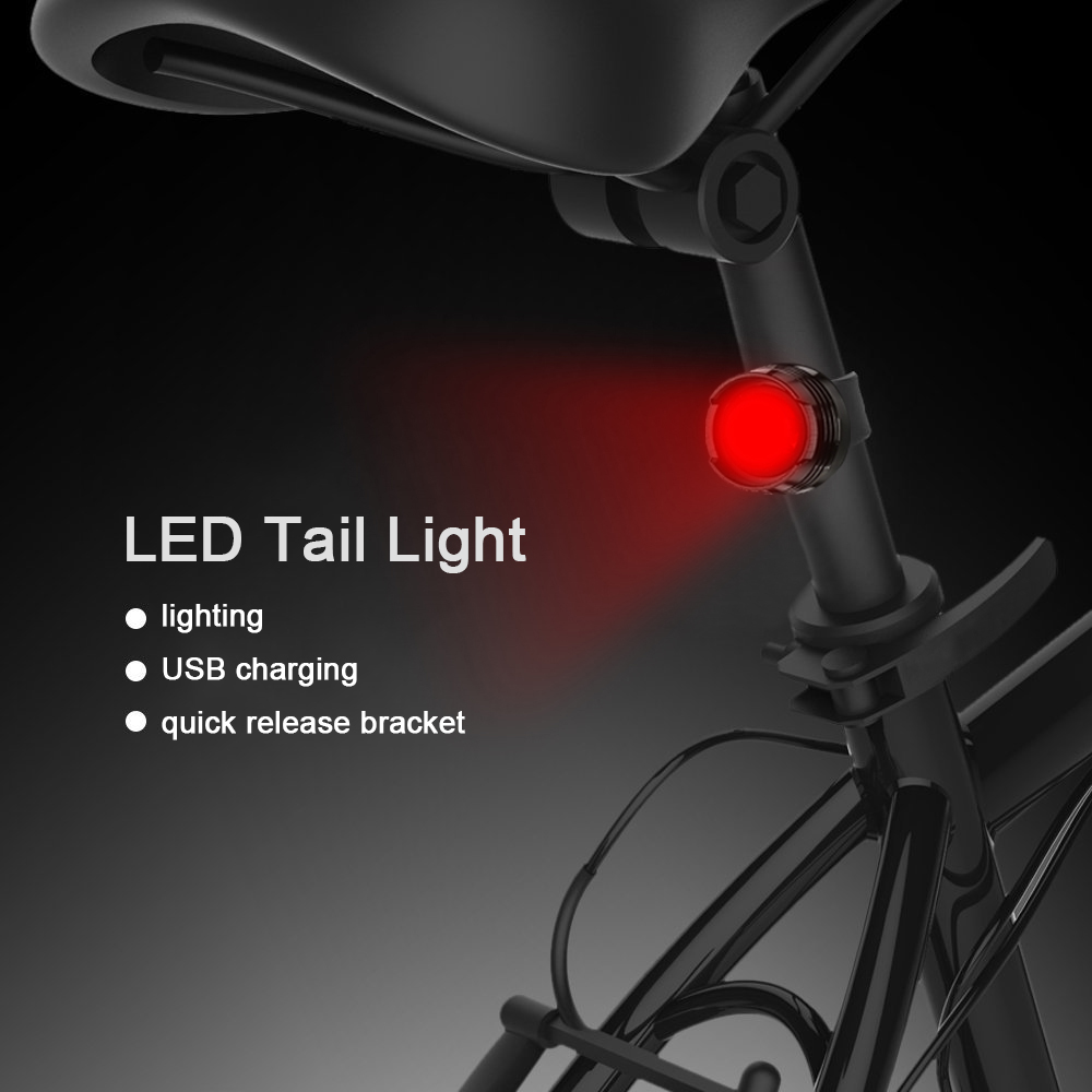 Image 5 - Bike Cycling Lights LED Bicycle Front Head light+Tail light Set MTB Bike Rear Lights Cycling Lamp Flashlight Bicycle accessories-in Bicycle Light from Sports & Entertainment