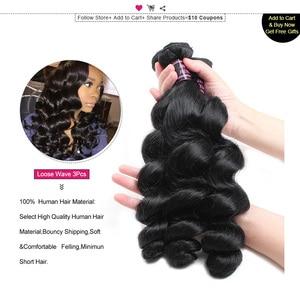 Image 4 - Ishow бразильские волосы, свободные волнистые пряди, 100% человеческие волосы, пряди, купить 3 или 4 пряди, бесплатные подарки, бразильские пряди волос