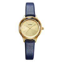 Sinobi-relojes sencillos de diseñador Geneva para mujer, pulsera de cuarzo dorado con correa de marca azul de lujo, regalos de lujo, 2020