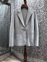 Осень зима 2020 модный Блейзер пальто высокое качество хлопок