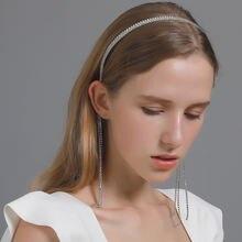 Блестящие стразы головная повязка с драгоценными камнями подвеска