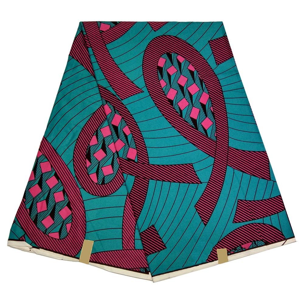 African Print Fabric 2019 High Quality Wax African Fabric 6 Yard/pcs Guaranteed Real Wax High Quality
