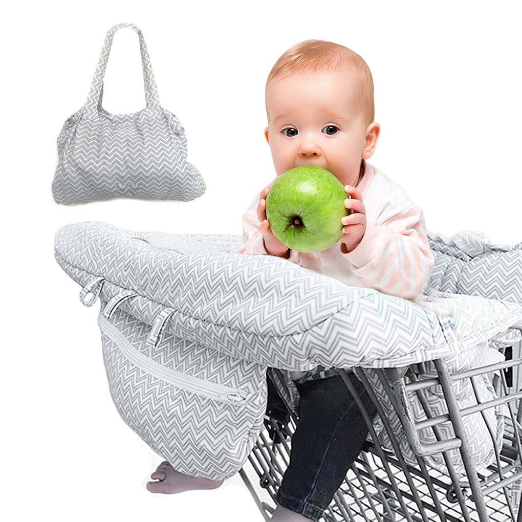 Baby Shopping Cart Cover Kid Toddlers 2 in 1 Universal Folding Highchair Grocery Cart Seat Protective Cover Safety Seats For Kid