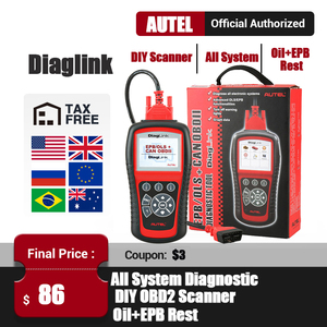 Image 1 - Autel DiagLink OBD2 קוד קורא אוטומטי OBD2 סורק DIY רכב רכב אבחון כלי EPB שמן איפוס סורק PK MD802 CRP129