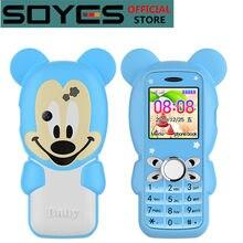 Soyes S10 + Super Mini niños lindo estudiante teléfono móvil Bluetooth Dual Sim tarjetas clave SOS No molestar en clase No Juegos