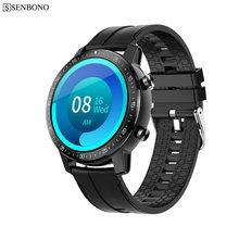 SENBONO 2020 hommes femmes Smartwatch montre intelligente longue durée de vie de la batterie étanche IP68 HR/BP Fitness Tracker S30 Smartwatch pour Android