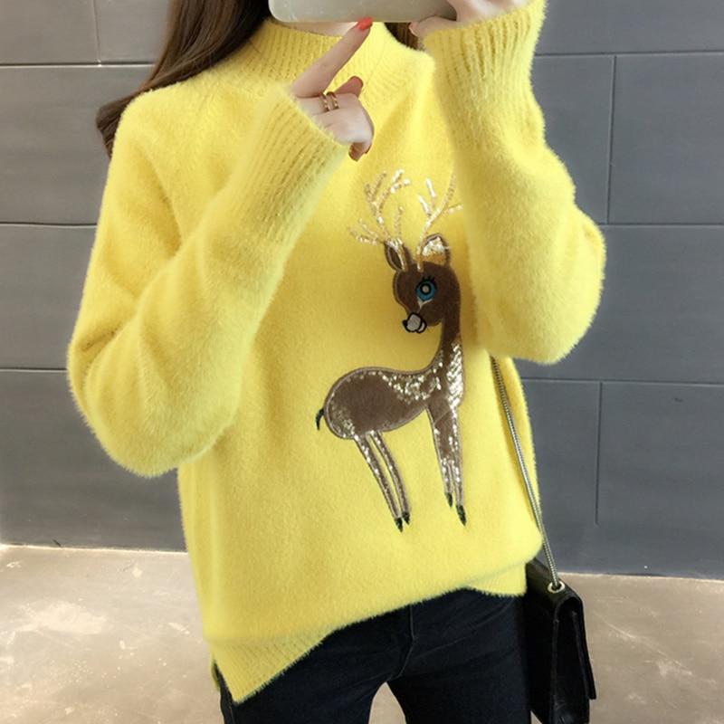 Super Sale 9693 , Cute Sweater Korean Reindeer Ugly