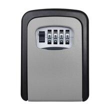 Замок для ключей, сейф для ключей, Уличный настенный Комбинированный Замок с паролем, скрытый ящик для хранения ключей, охранные сейфы для дома и офиса
