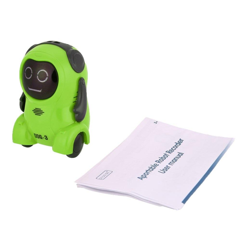 DDG-2/3 Intelligent Smart Mini Pocket Voice Recording RC Robot Recorder Freely Wheeling 360 Rotation Arm Toys for Kids Fun Gift