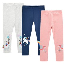 Children Leggings Trouser Kids Autumn Winter Clothing Girls Cartoons Printing Pants For 3-8 Years Girls