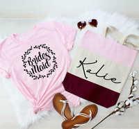 Brautjungfer t maid of honor Immer Bereit hochzeit lustige frauen mode camiseta rosa feminina slogan graphic t shirt top- k426