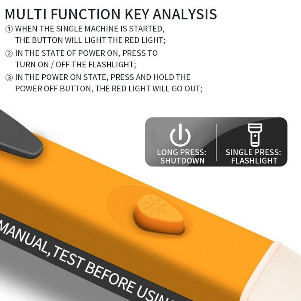 Test Pencil Electricity Test Pencil Digital 90-1000V Tester Electric Detector Current Meter Voltage AC Pen 12-1000V Non-Con A3F3