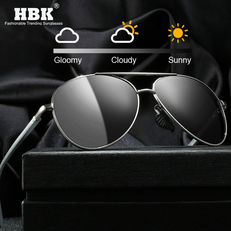 HBK Driver Color Changing Sunglasses Men Women Photochromic Polarized Transition Lens Sun Shades Anti Glare Safe Driving Glasses