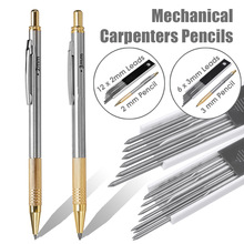 2mm/3mm Leads Mechanical Pencils for Carpenters Builders Clutch 2B Pencil with Lead for Drawing Marking School Office