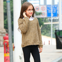 лучшая цена Girls Teenage School Girl Sweaters Spring And Autumn Girls Jumper Children Long Sleeve Knitted Clothes Kids Sweater For Girl