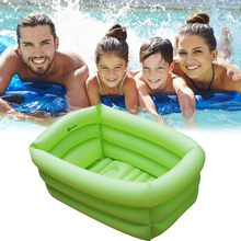 Baby Bath Tub Inflatable Children Swim Ocean Ball Pool Rectangle Bath Tub Garden Party Swimming Pool Jacuzzi Inflable Spa(China)