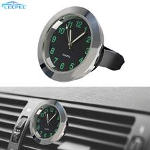 Clip-Clock Watch Ornaments Car-Decoration Silver Auto Mini Home Black Quartz for Mechanics