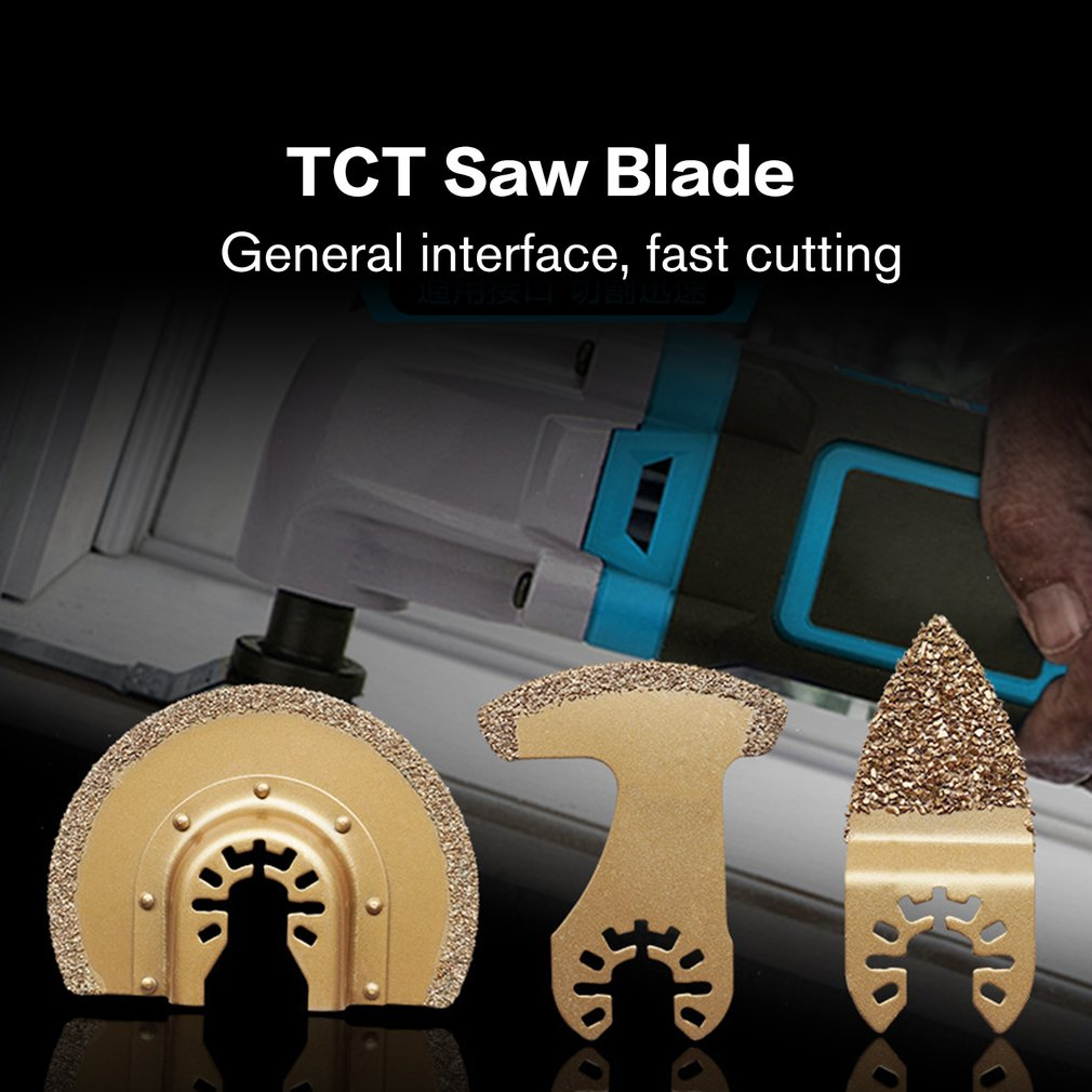 Diamond Carbide Multi Function Oscillating Tool Grinding Saw Blades For Ceramic Porcelin Tile Metal Cutting Tool