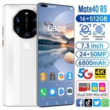 Быстрая доставка глобальная версия Mate40 RS смартфонов 16G 512G Android10 разблокирована 6800 мА/ч, с двумя sim-картами 4G, 5G мобильный телефон 2021 Новый