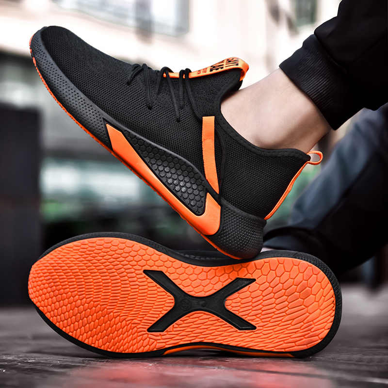 2019 yeni erkek ayakkabısı nefes erkekler Sneakers Zapatillas Hombre Flyknit yüksek kaliteli erkek rahat ayakkabılar