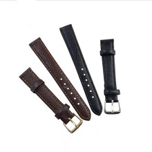 цена на DOBROA WatchBand Fashion Leather Watch Strap Stainless Steel Buckle Clasp Watch Band Litchi Pattern Leather Straps 20,22,24mm
