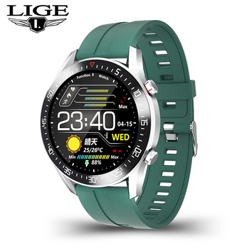 LIGE  fashion Full circle touch screen Mens Smart Watches  IP68 Waterproof Sports Fitness Watch Luxury Smart Watch for men 10