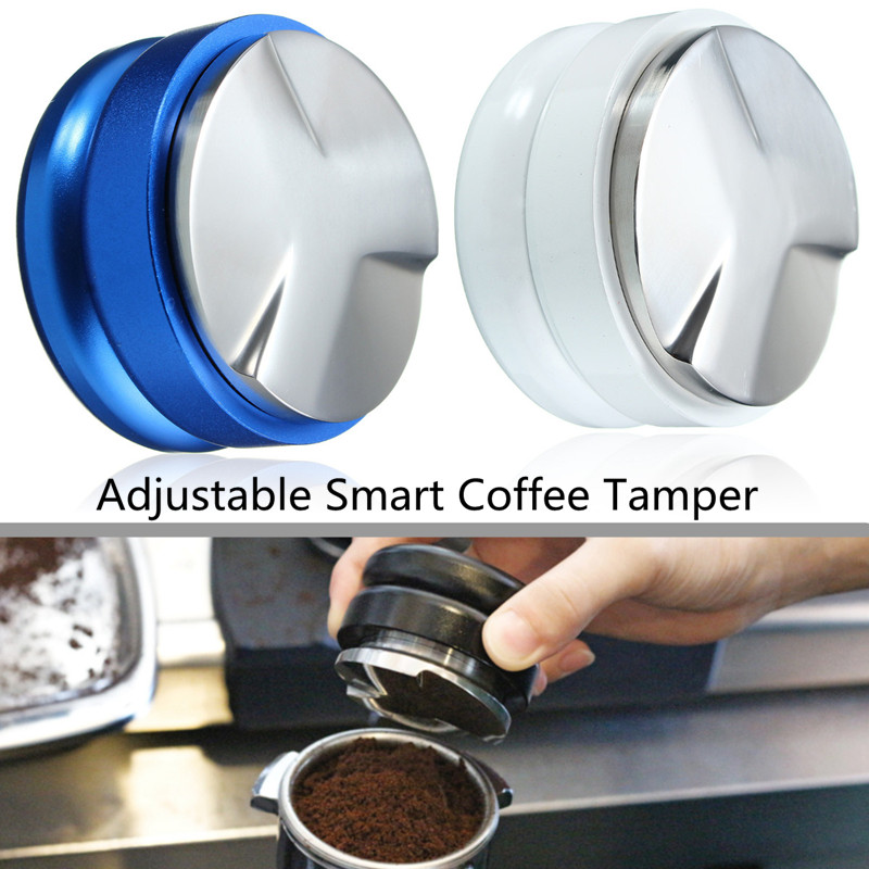 Adjustable Smart Coffee Tamper 58mm Base With Three Angled Slopes Coffee Powder Can Filling Pressure Metering Machine