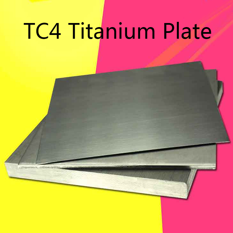 TC4 Thick Titanium Alloy Plate Thick Ti Sheet Thickness 4/5/6/8/10/15/20/25/30/mm Industry Or DIY 100x100mm 150x150mm