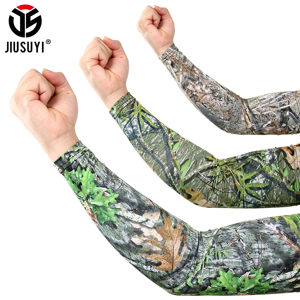 Outdoor Sports Arm Sleeves Men Bicycle UV Protection Oversleeve Running Skiing Cycling Sunscreen Arm Warmer Sun Arm Cover Cuff