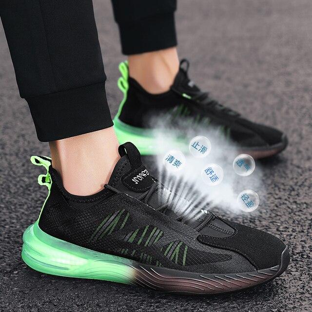 Aire de malla de los hombres es SneakersTrend cómodo zapatillas de correr para hombre verano al aire libre los hombres bajos Zapatos de deporte amortiguación no slipTraining zapatos 5