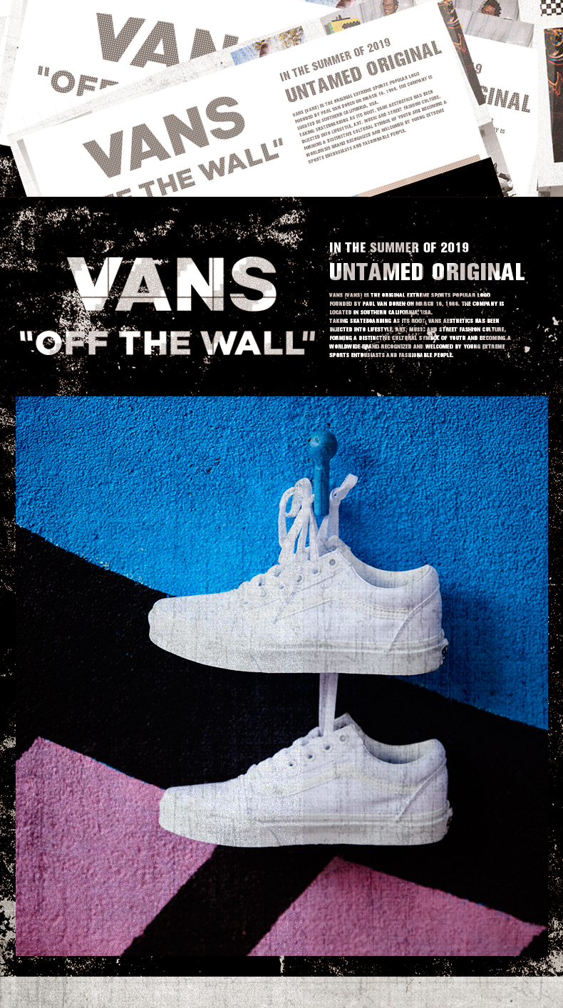 VANS Old Skool Men's and Women's Shoes Classic White Outdoor Street Style Fashion Trend Neutral 2019 New VN000D3HW00