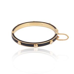 Image 4 - Европейские и американские ювелирные изделия, оптовая продажа, эмалированная цветная глазурованная Мода, простая вставка с заклепками, разноцветный браслет для девочек