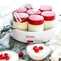 Rot Multifunktions Hause Voll Automatische Glas Sub tasse Selbst Made Joghurt Maschine Pulver Joghurt Maker mit 7 Glas Tassen-in Joghurtgeräte aus Haushaltsgeräte bei
