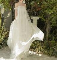 Vestido de Noiva Tulle Wedding Dress Empire Maternity Wedding Gowns for Pregnant Women Custom Made Korea Beach Bride Dresses