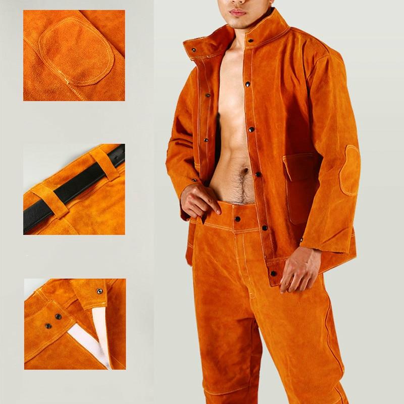 Cowhide Welding Overalls Welding Apron Welder Protective Equipment Protective Clothing
