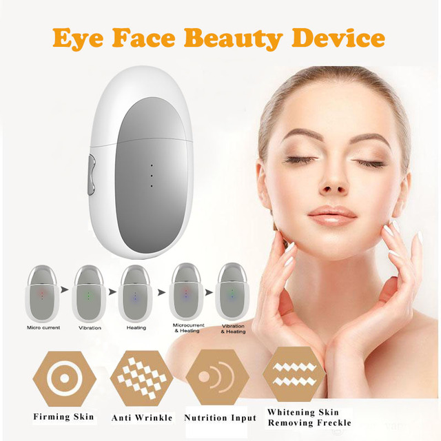 Ionic Eye Lift Anti Aging Machine Face Lift Huidverstrakking Ogen Zakken Remover Galvanische Spa Massage Apparaat Voor Gezicht Eye massager