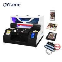 Oyfame a4 impressora uv do leito com a cabeça de impressora l800 a4 impressora uv para a caixa do telefone acrílico garrafa de metal máquina de impressão uv