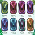 8 packs camaleão pó pigmento revestimento tinta acrílica camaleão corante para carros automotivo artesanato prego