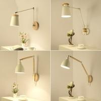 Nórdico conduziu a lâmpada de parede leitura arandela luzes parede ajustável para o quarto moderno metal luminária cabeceira|Luminárias de parede| |  -