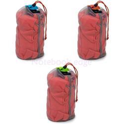 Durable Nylon Ultra-light Camping Drawstring Compression Stuff Mesh Bag S-XXL