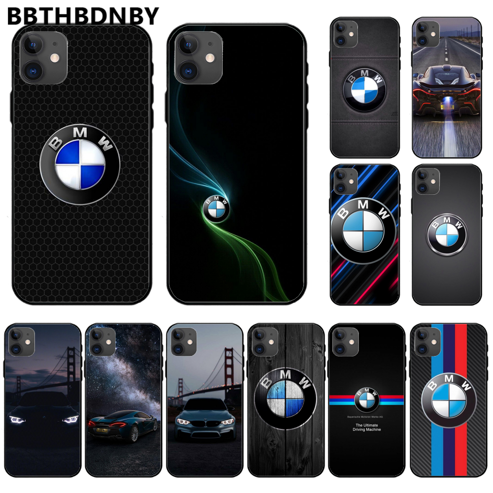 Famous Car BMW Soft TPU Silicone Phone Case Luxury Unique Design Cover For Iphone 11 Pro Max X Xs Xr 7 8 Plus 6 6s 5 5s 5se
