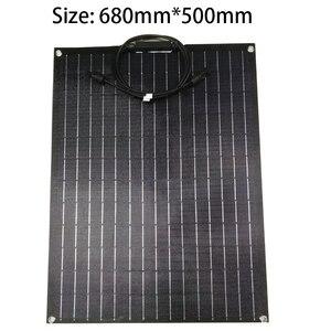 Image 2 - 1pcs 2pcs ETFE גמיש פנל סולארי 60w פנל סולארי 12v מטען סולארי עם etfe משטח ציפוי חצי גמיש שמש פנלים