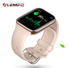 LEMFO 2020 חכם שעון נשים 3D מעוקל מסך Bluetooth שיחת IP67 Waterproof קצב לב צג מגנטי טעינה Smartwatch(China)