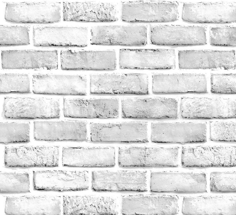LUCKYYJ самоклеящаяся бумага для стен из искусственного кирпича, белая/серая виниловая самоклеящаяся контактная бумага, декоративные настенн...