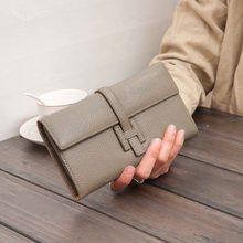 2021 carteira de couro feminina longa grande capacidade lichia grão bolsa de mão de couro carteiras de luxo para mulher