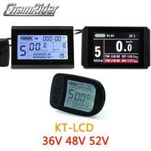 Lcd3 ebike display lcd8hu kt lcd medidor de bicicleta elétrica lcd5 para kt controlador inteligente 52v 48v 36v painel lcd plugue à prova dwaterproof água