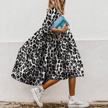 Fashion Square CollarVintage Three Quarter Sleeve O Neck Loose Dress Women Flower Print Party Dresses Summer Plus Size