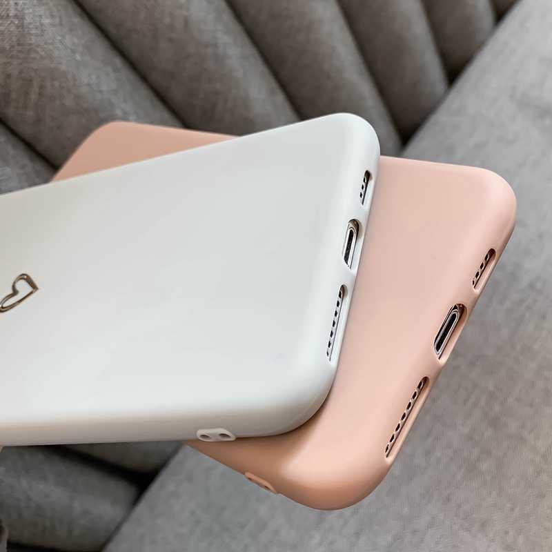 עבור iPhone 6 6s 7 8 בתוספת X XR XS מקסימום iPhone 11 פרו מקסימום מקרה דק במיוחד רך לב בצורת תבנית סיליקון מגן מקרה