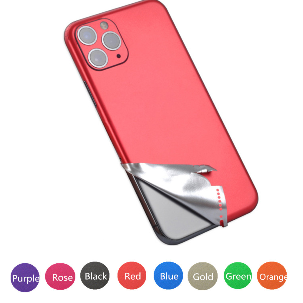 2020 Ice Film Full Coverage Sticker Pure Back Film For iPhone 5 6 7 8 Plus X XR XS Max Screen Protector For iPhone 12 11 Pro Max